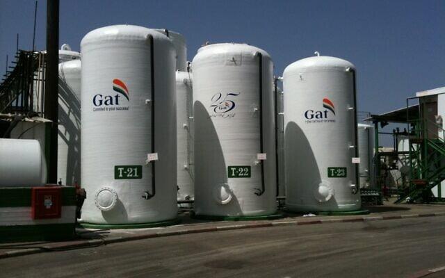 מפעל דשן גת באלון תבור. אמוניום ניטראט משמש לתעשיית הדשנים (צילום: ויקיפדיה)