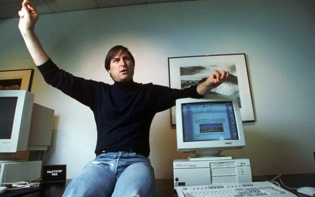איש המאה סטיב ג'ובס ב-1993 (צילום: AP Photo/Kristy Macdonald)