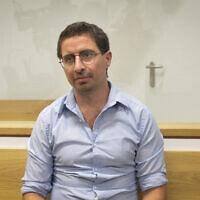 אלון קסטיאל בבית המשפט המחוזי בתל אביב, 23 ביולי 2018 (צילום: פלאש 90)