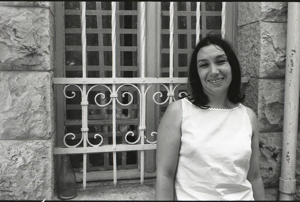 נעמי שמר בירושלים, 1967 (צילום: בוריס כרמי)