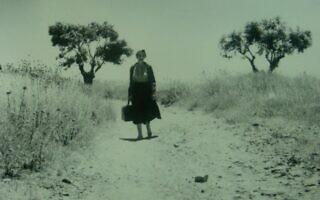 """לאה גולדברג (צילום: מתוך הסרט """"לאה גולדברג בחמישה בתים"""")"""