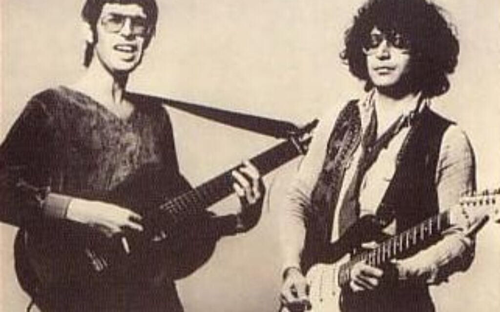 אילן וירצברג ושמעון גלבץ ב-1981 (צילום: האתר של אילן וירצברג)
