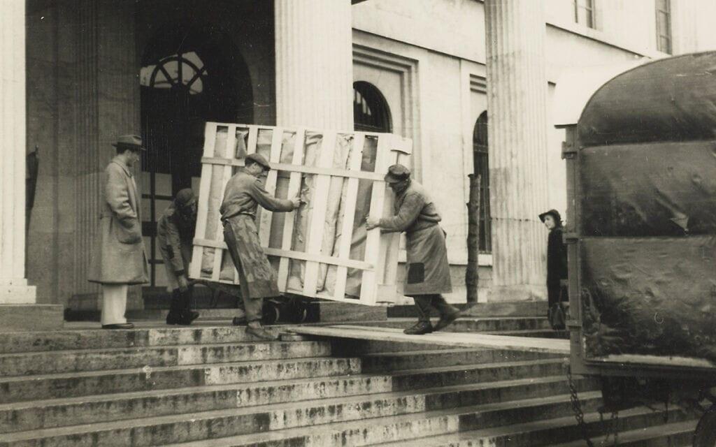 יוהנס פלברמאייר, העברת אמנות שהושבה לבעליה (צילום: המוזיאון היהודי)