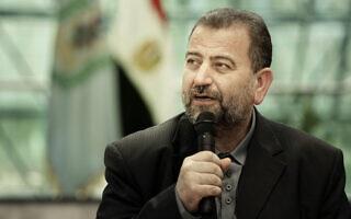 סאלח אל-עארורי ב-2017 (צילום: AP Photo/Nariman El-Mofty)