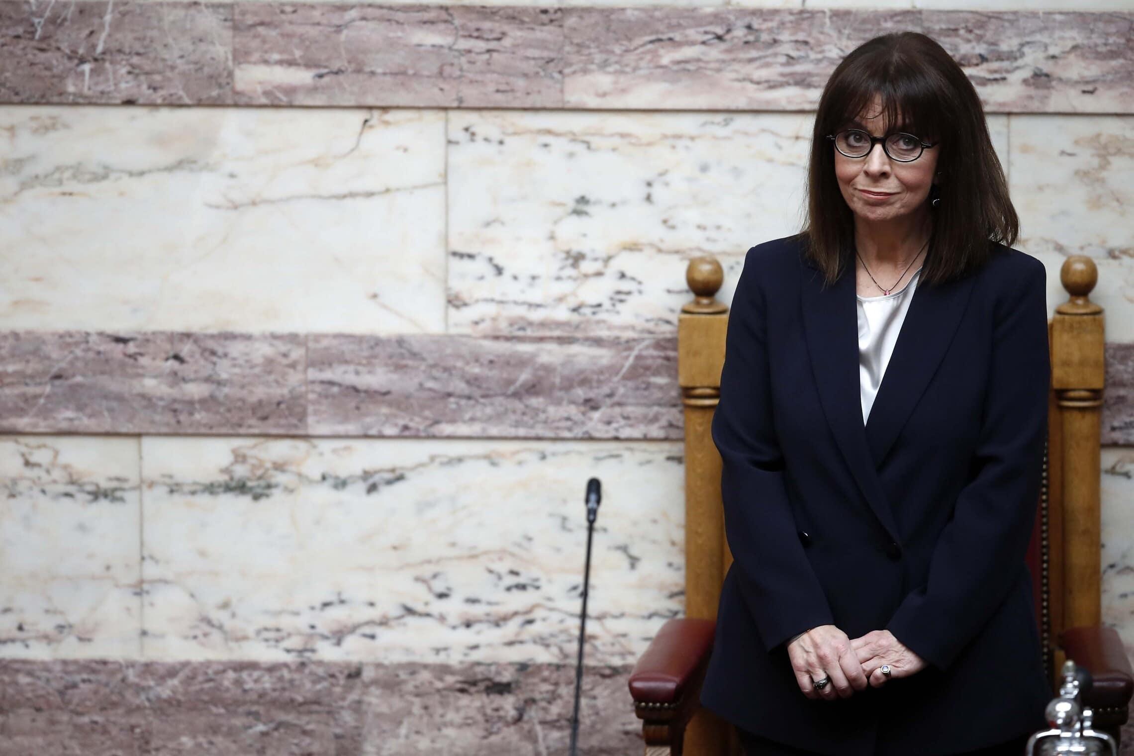 נשיאת יוון קתרינה סקלרופולו (צילום: AP Photo/Thanassis Stavrakis)