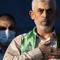 מנהיג חמאס בעזה יחיא סנוואר (צילום: AP Photo/John Minchillo)