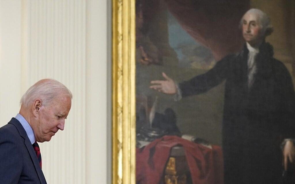נשיא ארצות הברית ג'ו ביידן, 3 באוגוסט 2021 (צילום: AP Photo/Susan Walsh)