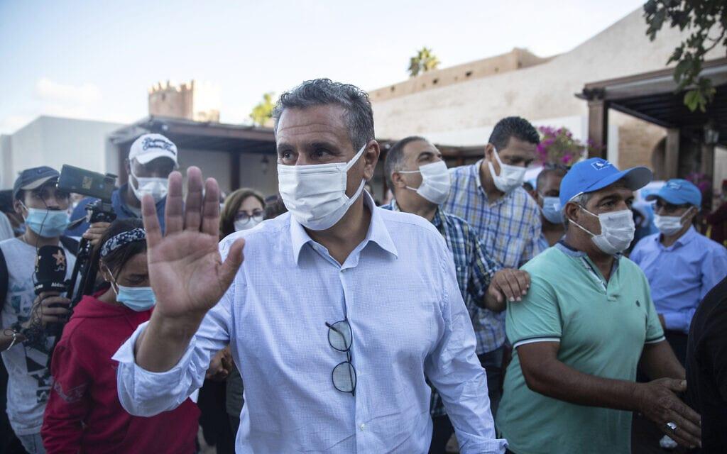 ראש ממשלת מרוקו עזיז אחנונוש, כמה ימים לפני הבחירות, 2 בספטמבר 2021 (צילום: AP Photo/Mosa'ab Elshamy)