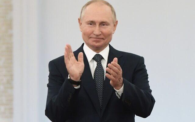 נשיא רוסיה ולדימיר פוטין, ספטמבר 2021 (צילום: Sergei Guneyev, Sputnik, Kremlin Pool Photo via AP)
