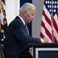 נשיא ארצות הברית ג'ו ביידן, 17 בספטמבר 2021 (צילום: AP Photo/Evan Vucci)