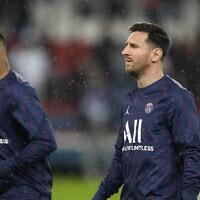 ניימאר ומסי במשחק של פריז סן ז'רמן מול ליון, ספטמבר 2021 (צילום: AP Photo/Francois Mori)