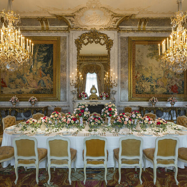 חדר האוכל באחוזת וודסדון (צילום: Chris Lacey (c) National Trust Waddesdon Manor)