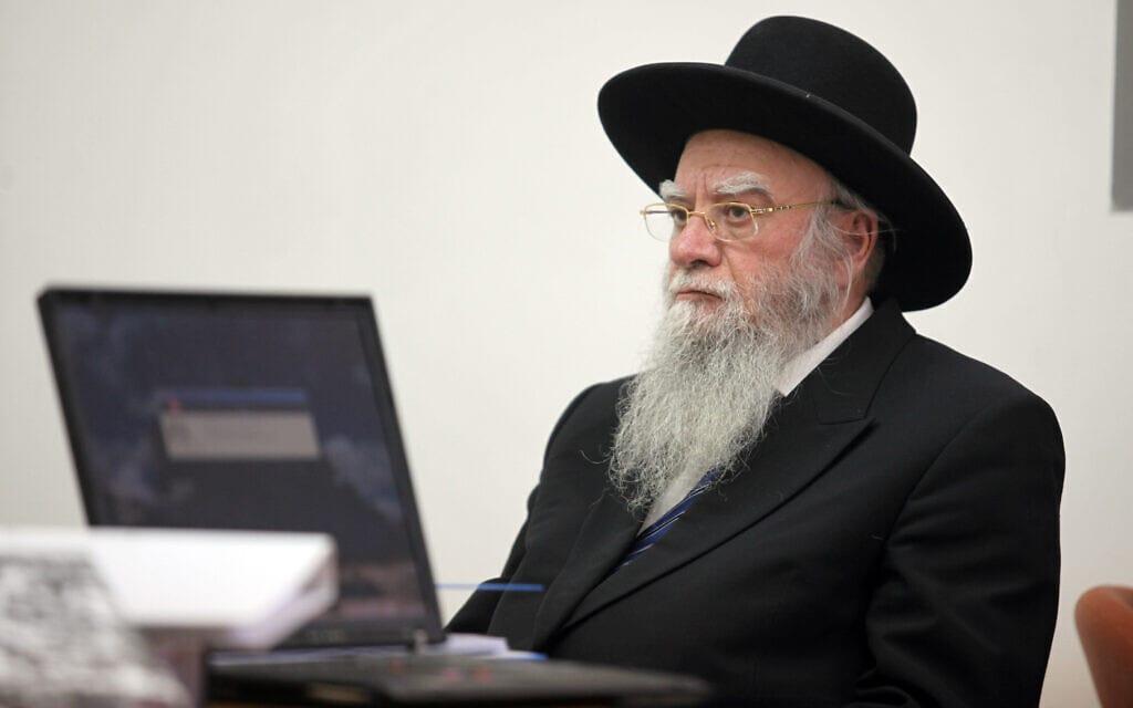 הרב אליהו בקשי דורון בבית המשפט המחוזי בירושלים, 24 במאי 2010 (צילום: יוסי זמיר/פלאש90)