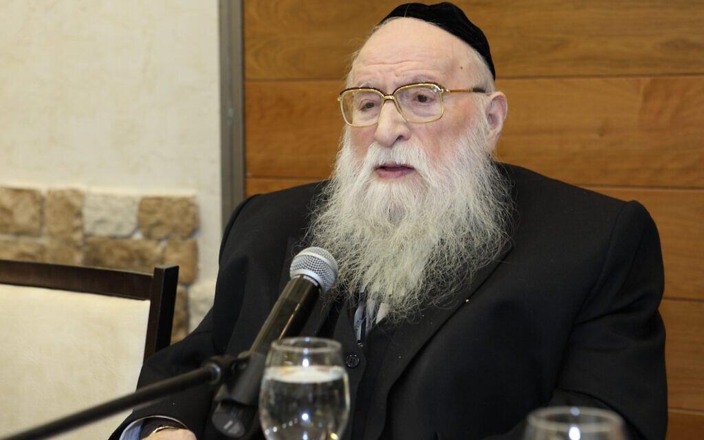 הרב מנחם פרוש ב-2009 (צילום: יעקב נאומי/פלאש90)