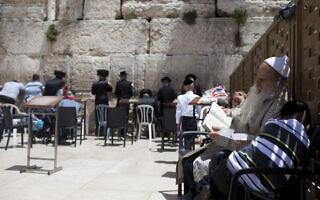 יהודי קשיש ונכדו, אילוסטרציה (צילום: Flash90)