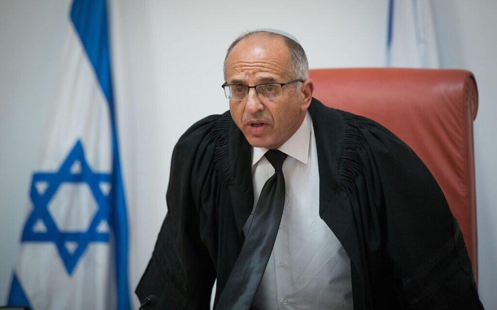 שופט בית המשפט העליון נעם סולברג (צילום: יונתן זינדל/פלאש90)