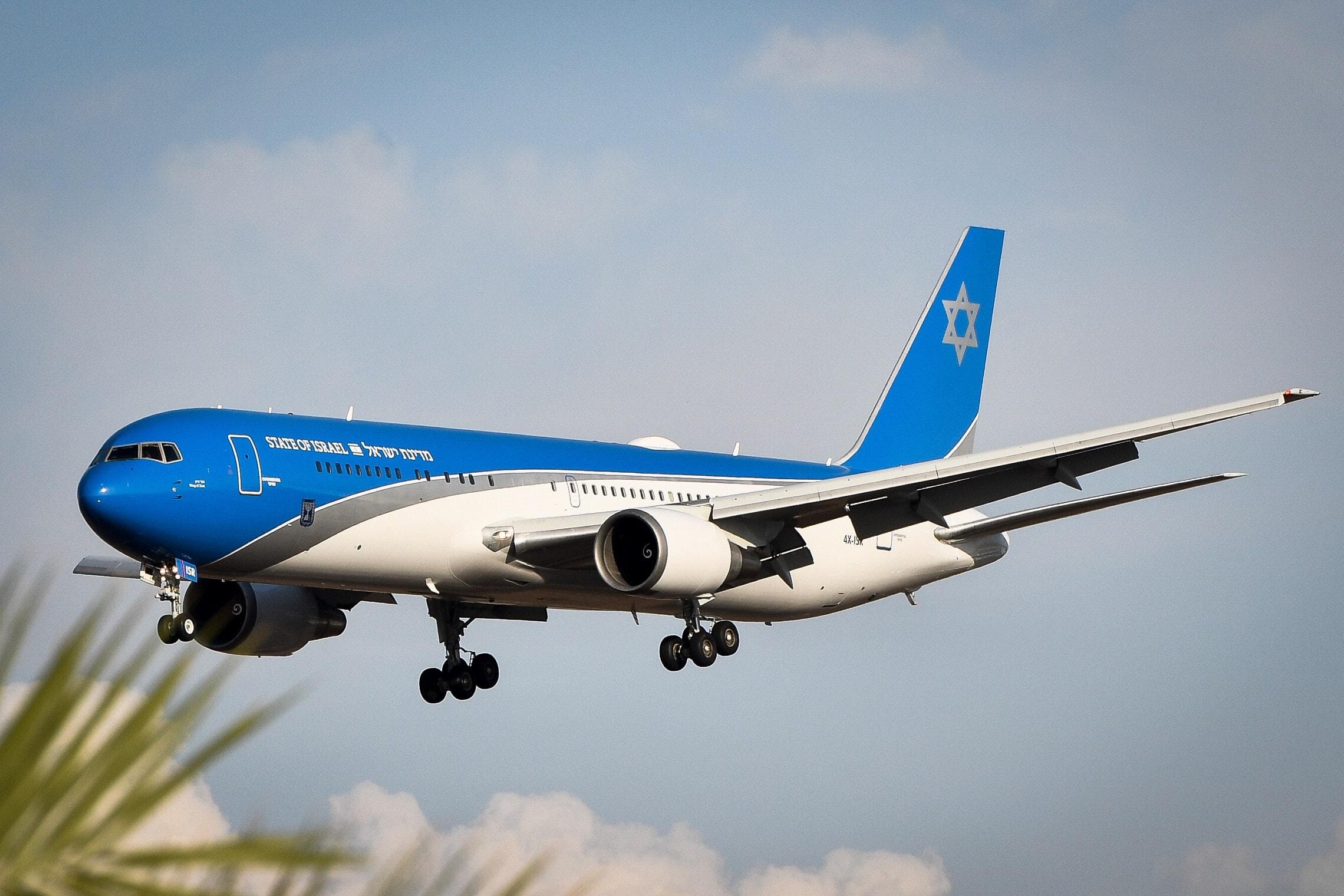 """""""כנפי ציון"""", המטוס שיועד לראש הממשלה ובו הושקעו למעל מ-700 מיליון שקל (צילום: אבשלום ששוני/פלאש90)"""