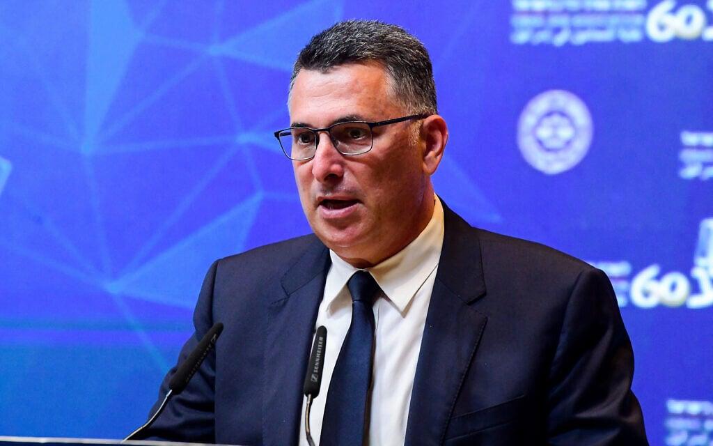 שר המשפטים גדעון סער בכנס של לשכת עורכי הדין בתל אביב, 2 בספטמבר 2021 (צילום: אבשלום ששוני/פלאש90)