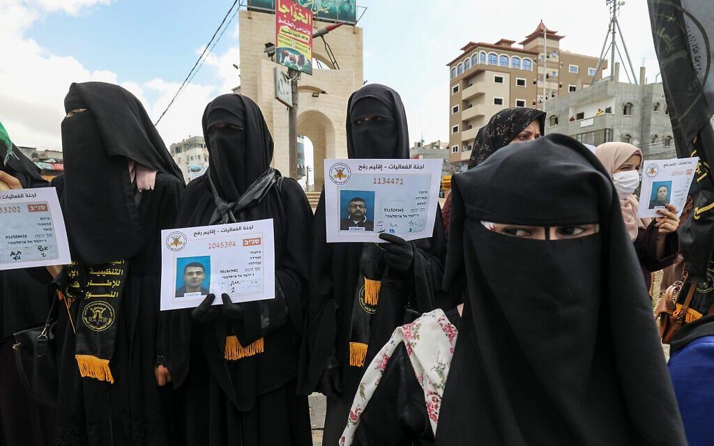 תומכות של הג'יהאד האסלאמי ברצועת עזה חוגגות את בריחת ששת האסירים מכלא גלבוע, 6 בספטמבר 2021 (צילום: Abed Rahim Khatib/Flash90)