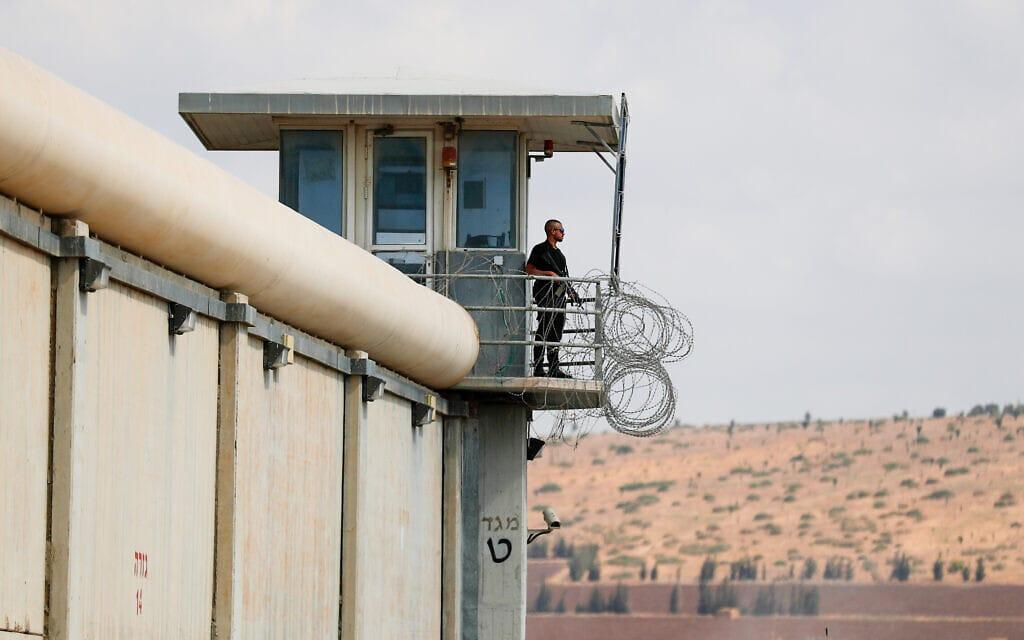 מגדל השמירה בכלא גלבוע (צילום: פלאש90)