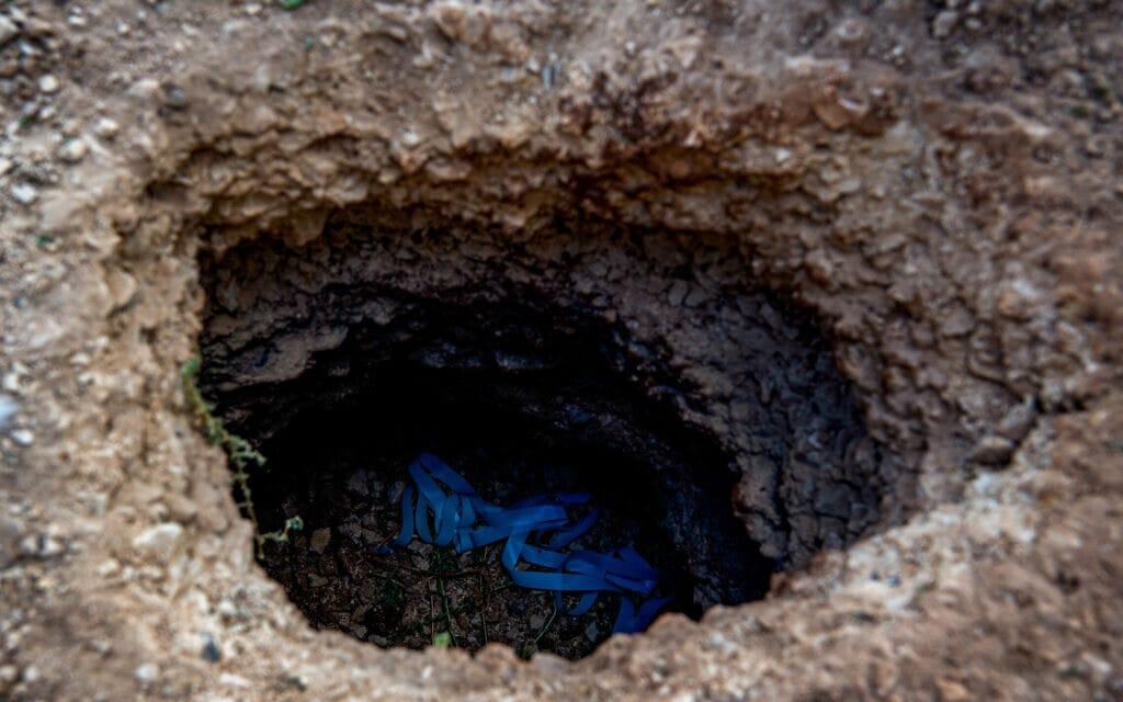המנהרה ממנה נמלטו אסירים ביטחוניים, כלא גלבוע, 6 בספטמבר 2021 (צילום: Flash90)