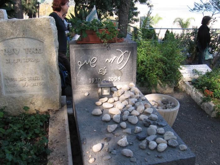 קברה של נעמי שמר בקיבוץ כינרת (צילום: ילנה שקולניק)