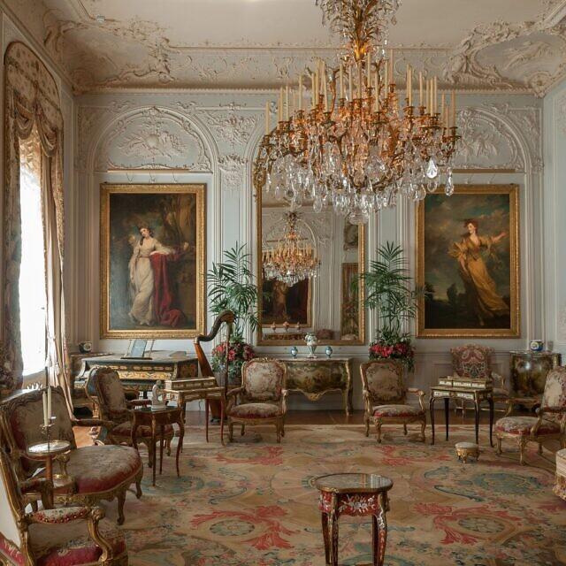 חדר הציורים במגדל אחוזת וודסדון (צילום: Chris Lacey (c) National Trust Waddesdon Manor)