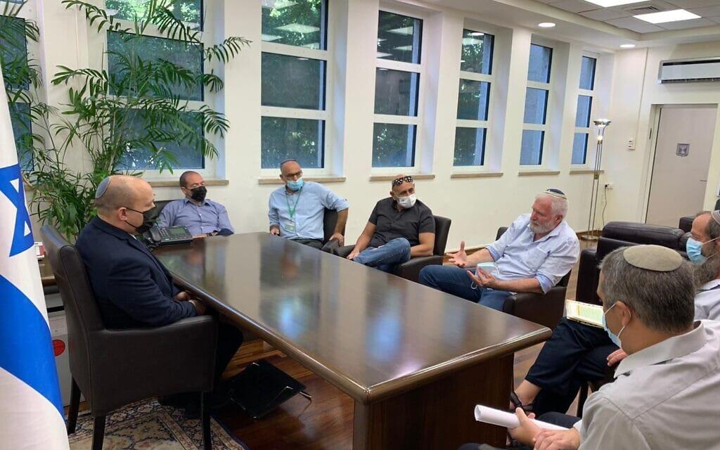 """ראש הממשלה נפתלי בנט נפגש עם ראשי מועצת יש""""ע, 9 בספטמבר 2021"""