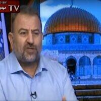 סלאח אל אערורי, צילום מסך מ- MEMRI TV Videos