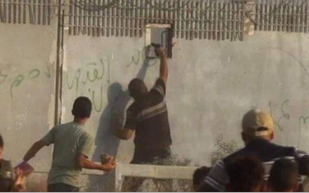 צילום מסך מתוך הסרטון המתעד את תקרית הירי בבראל חדריה שמואלי