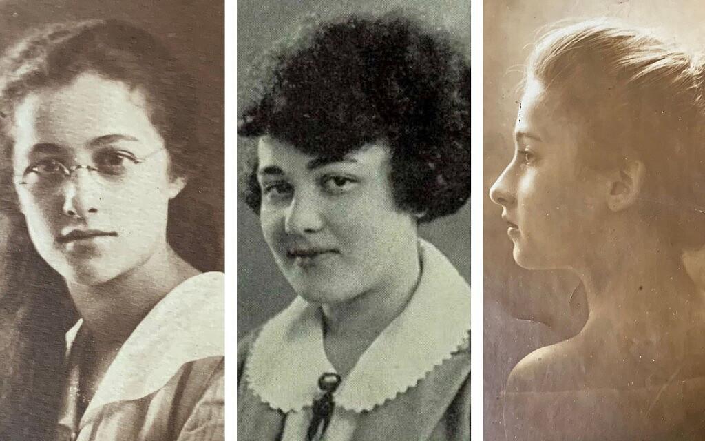 משמאל: מרסלה מוריס בצעירותה, רות מוריס בספר המחזור של התיכון שלה, סלמה מוריס כאישה צעירה (צילום: באדיבות ג'ולי קלאם)