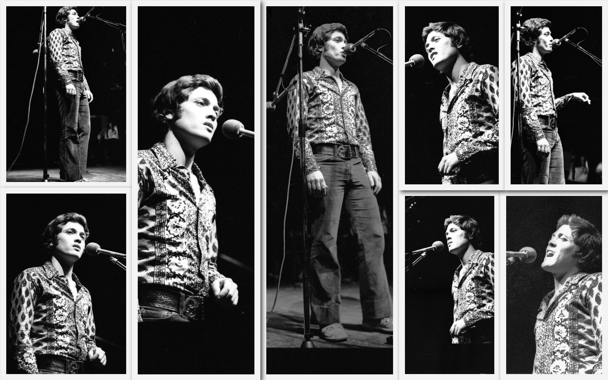 שלמה ארצי בערב שירי משוררים בבית החייל בתל אביב, 25 בינואר 1972 (צילום: אוסף דן הדני, הספרייה הלאומית)