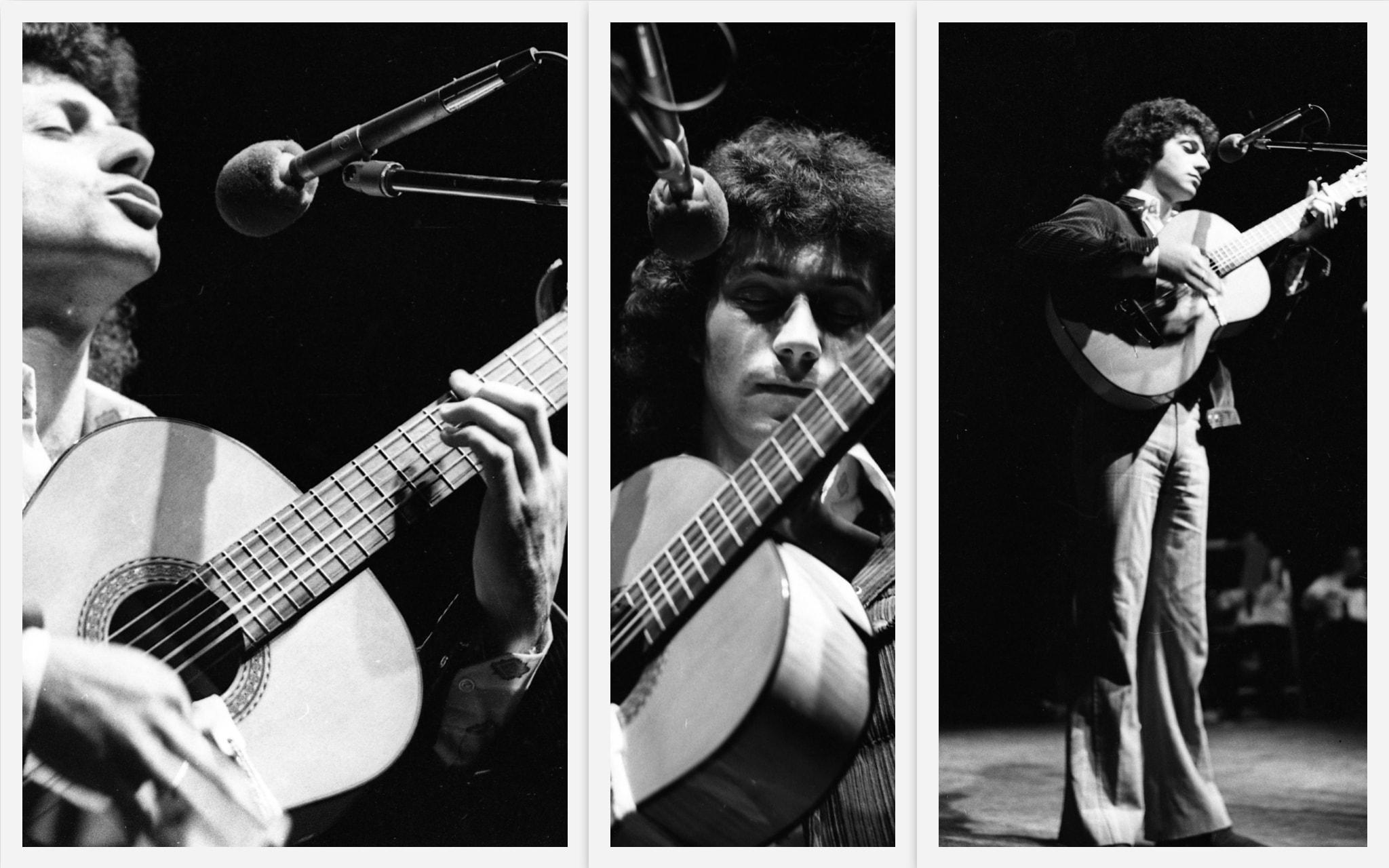 מתי כספי בערב שירי משוררים בבית החייל בתל אביב, 25 בינואר 1972 (צילום: אוסף דן הדני, הספרייה הלאומית)