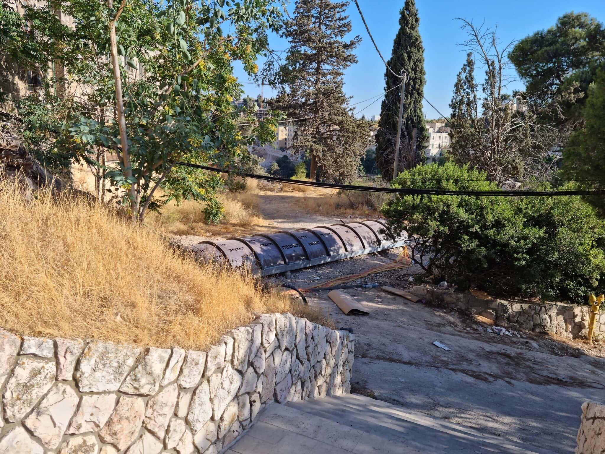 מנהרת הר ציון המשופצת (צילום: שמואל בר-עם)