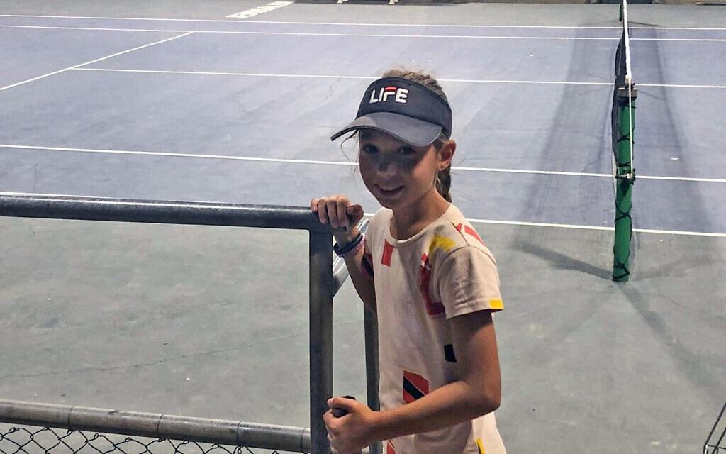 סימונה שומסקי במרכז הטניס בירושלים, אוגוסט 2021 (צילום: שלום ירושלמי)