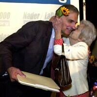 ראלף ניידר בבחירות 2000 (צילום: AP Photo/David Zalubowski)