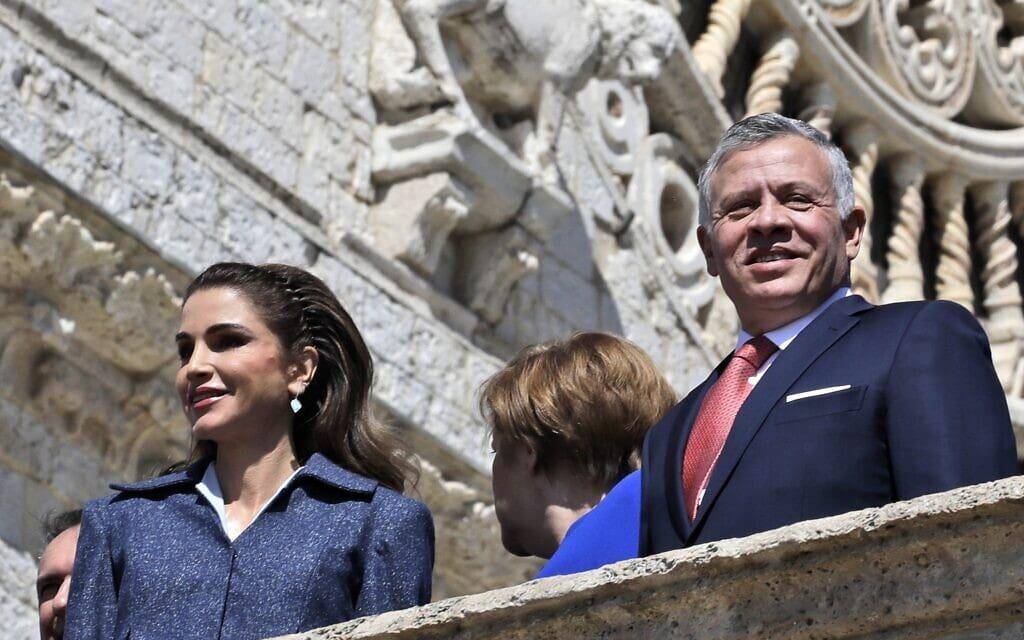 מלך ירדן עבדאללה ורעייתו ראניה, 2019 (צילום: AP Photo/Alessandra Tarantino)