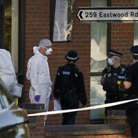 זירת הרצח של חבר הפרלמנט הבריטי דייוויד איימס, 15.10.21 (צילום: AP Photo/Alberto Pezzali)