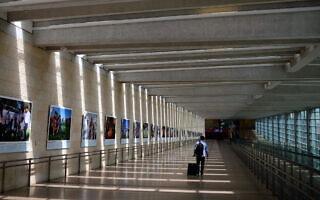 נמל התעופה בן גוריון, אפריל 2021 (צילום: תומר נויברג/פלאש90)