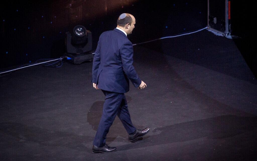 ראש הממשלה נפתלי בנט בכנס הסייבר בתל אביב, 21 ביולי 2021 (צילום: מרים אלסטר/פלאש90)