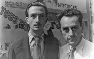 סלבדור דאלי (משמאל) ומאן ריי בפריז, 16 ביוני 1934 (צילום: רשות הכלל)