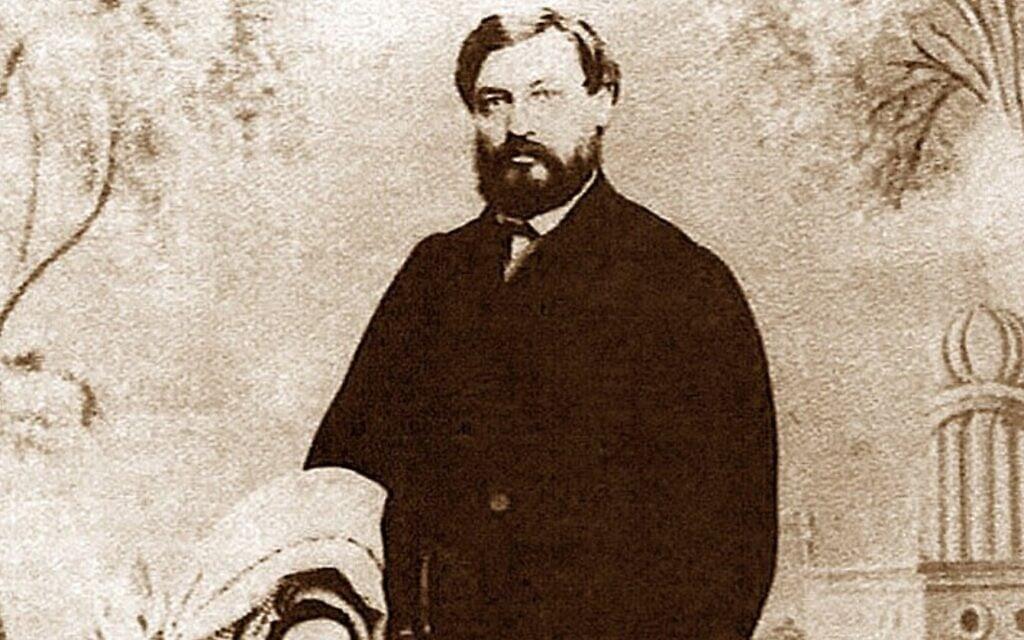 פורטרט של מוזס שפירא מ-1880, ויקיפדיה