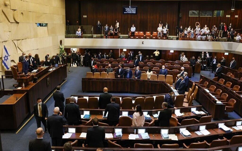 מליאת הכנסת, 4 באוקטובר 2021 (צילום: נועם מושקוביץ, דוברות הכנסת)