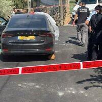 זירת הירי בכפר ראמה, שבו נורה למוות הפוליטיקאי סאהר אסמאעיל, בן 50, ב-15 באוגוסט 2021 (צילום: משטרת ישראל)