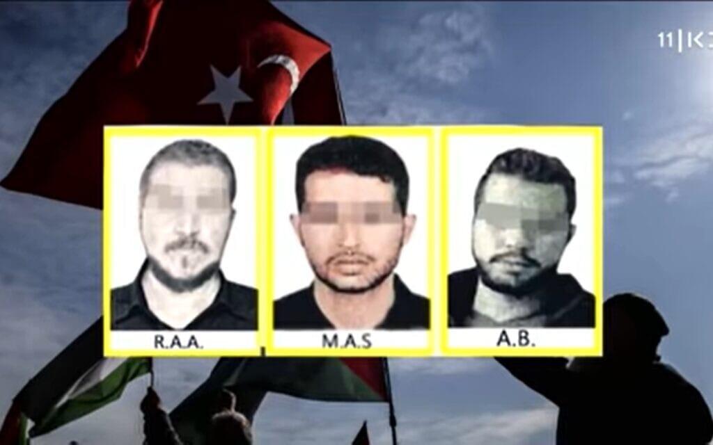 """דיווחים על רשת הריגול שנתפסה בטורקיה, צילום מסך מ""""כאן11"""""""