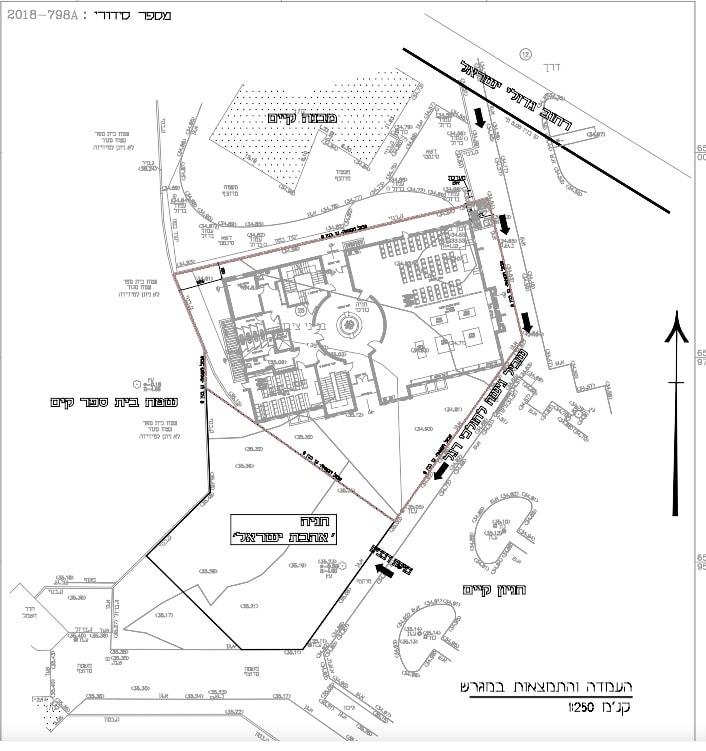 תסריט המוסד להנצחת השואה ובו בית מדרש אשר מתוכנן לקום בשכונת נאות שקמה בראשון לציון
