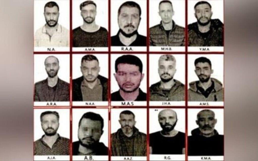 תמונות של סוכני הריגול כביכול שנתפסו בטורקיה, כפי שהופצו בתקשורת הטורקית, 25 באוקטובר 2021 (צילום: צילום מסך)